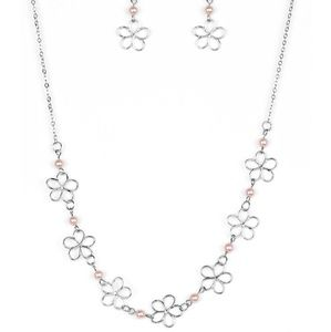Always Abloom Paparazzi necklace and earring set